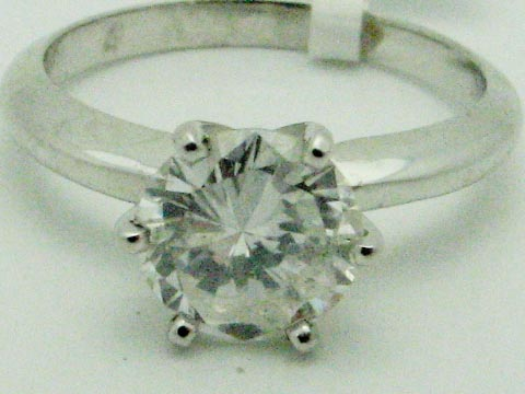 11241 14K WHITE GOLD LADIES DIAMOND SOLITAIR RING