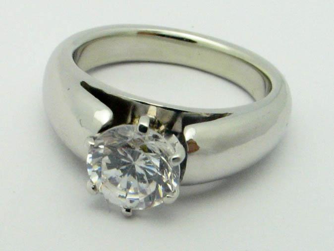11273 14K WHITE GOLD SOLITAIR DIAMOND RING
