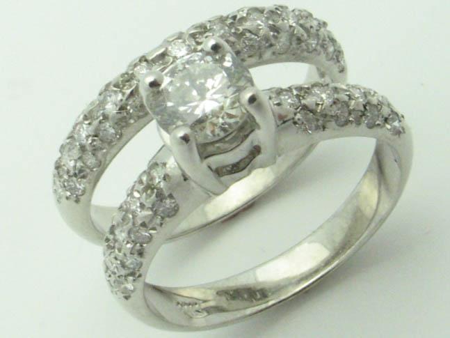 11275 14K WHITE GOLD  DIAMOND RING