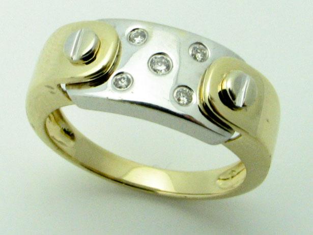 11514 14K TWO TONE DIAMOND RING