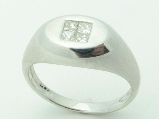 11517 14K WHITE GOLD DIAMOND RING