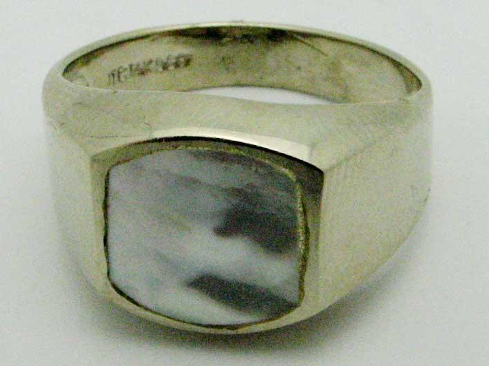 11548 14K WHITE GOLD  PEARL RING