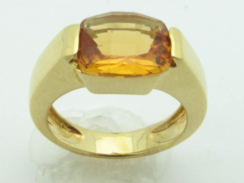 11554 14K YELLOW GOLD CITREN RING