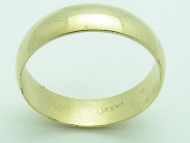 11601 14K YELLOW GOLD HIGH POLISHED RING
