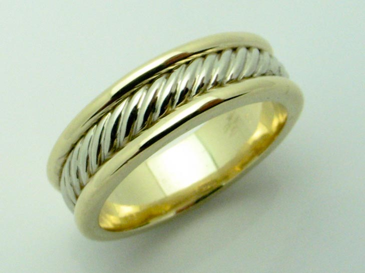 11603 14K TWO TONE BRAIDED RING
