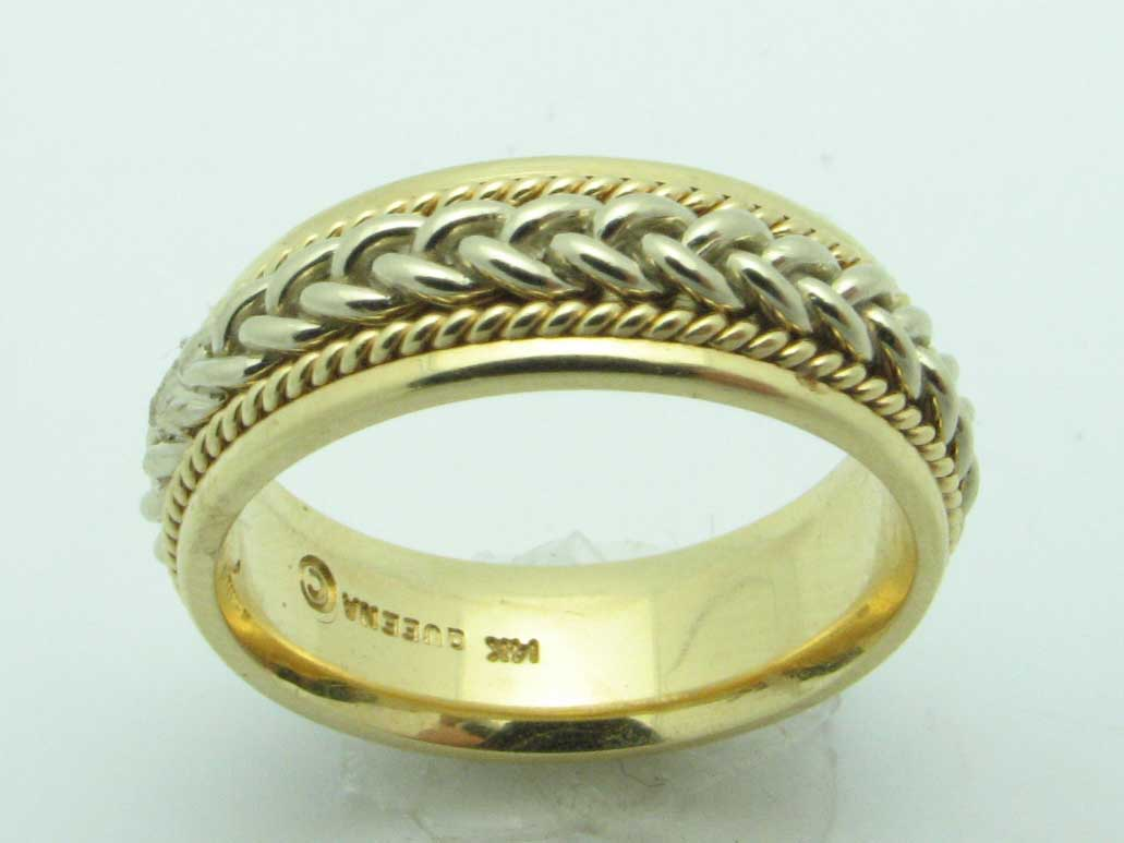 11612 14K TWO TONE BRAIDED RING