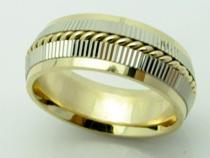 11613 14K TWO TONE BRAIDED RING