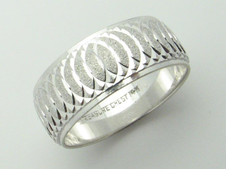 11623 14K WHITE GOLD SWIRL RING