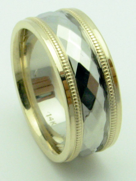 11631 14K TWO TONE WEDDING RING