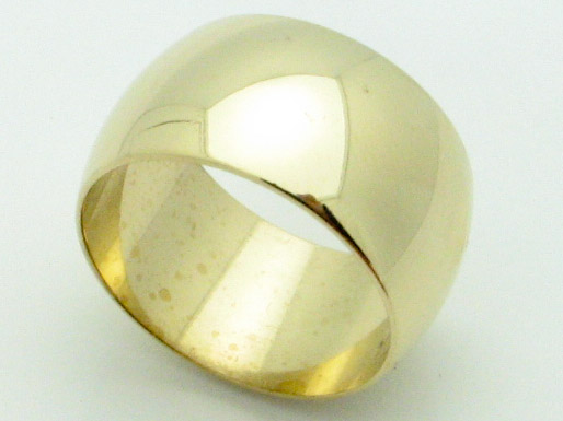 11644 14K YELLOW GOLD HIGH POLISHED RING