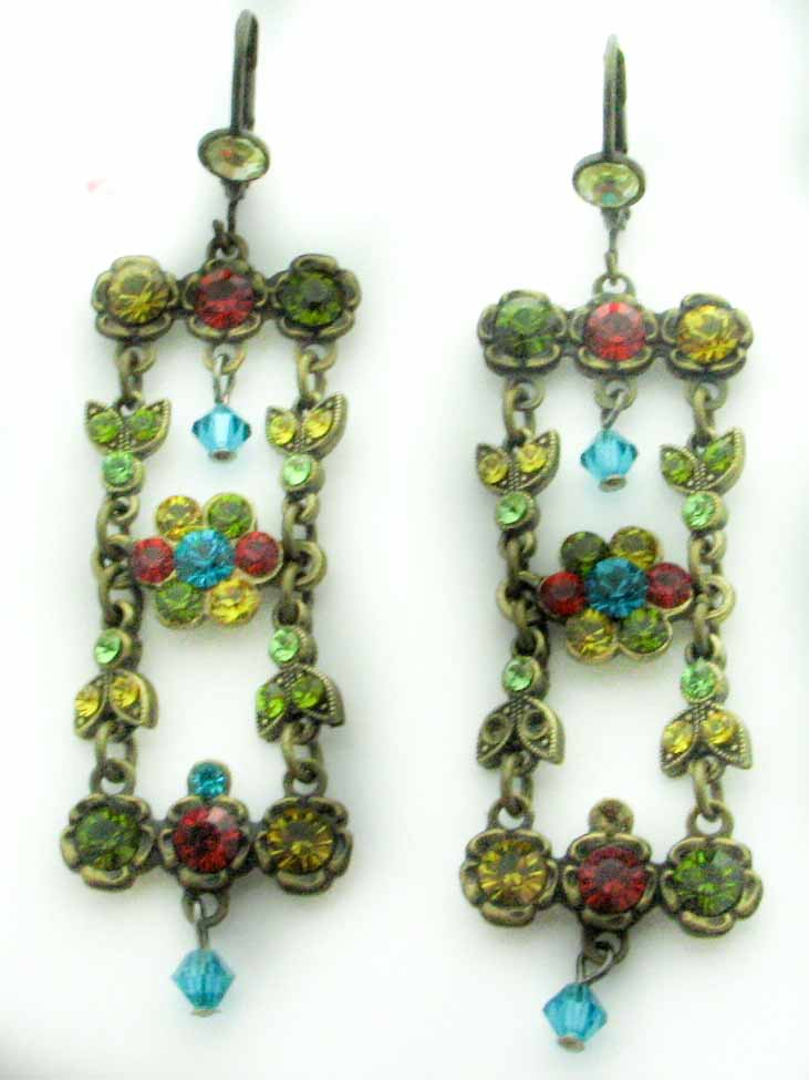 11761 BELLADONNA YELLOW AND BLUE EARRINGS
