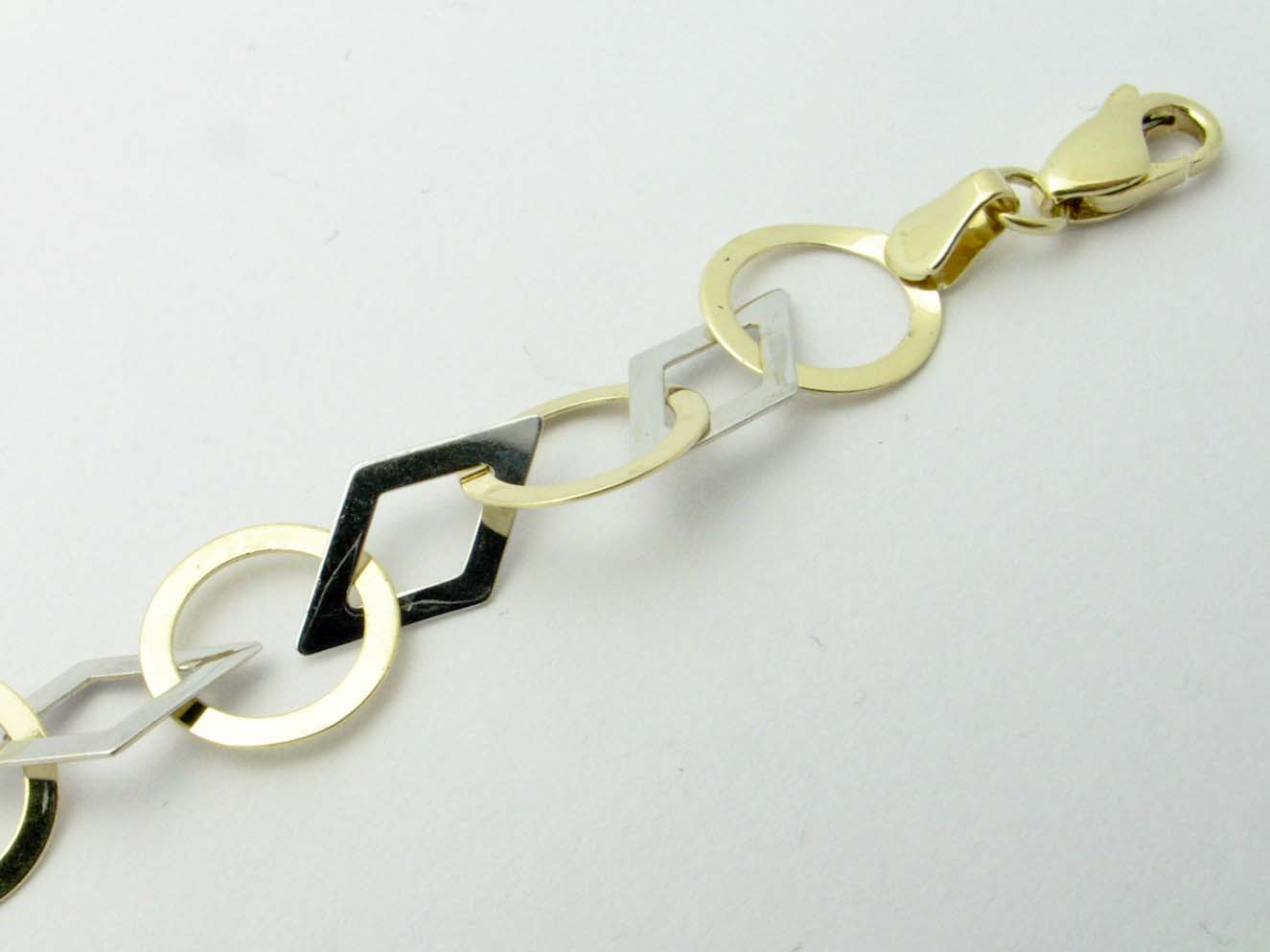 11836 14K TWO TONE GEO ANKLET