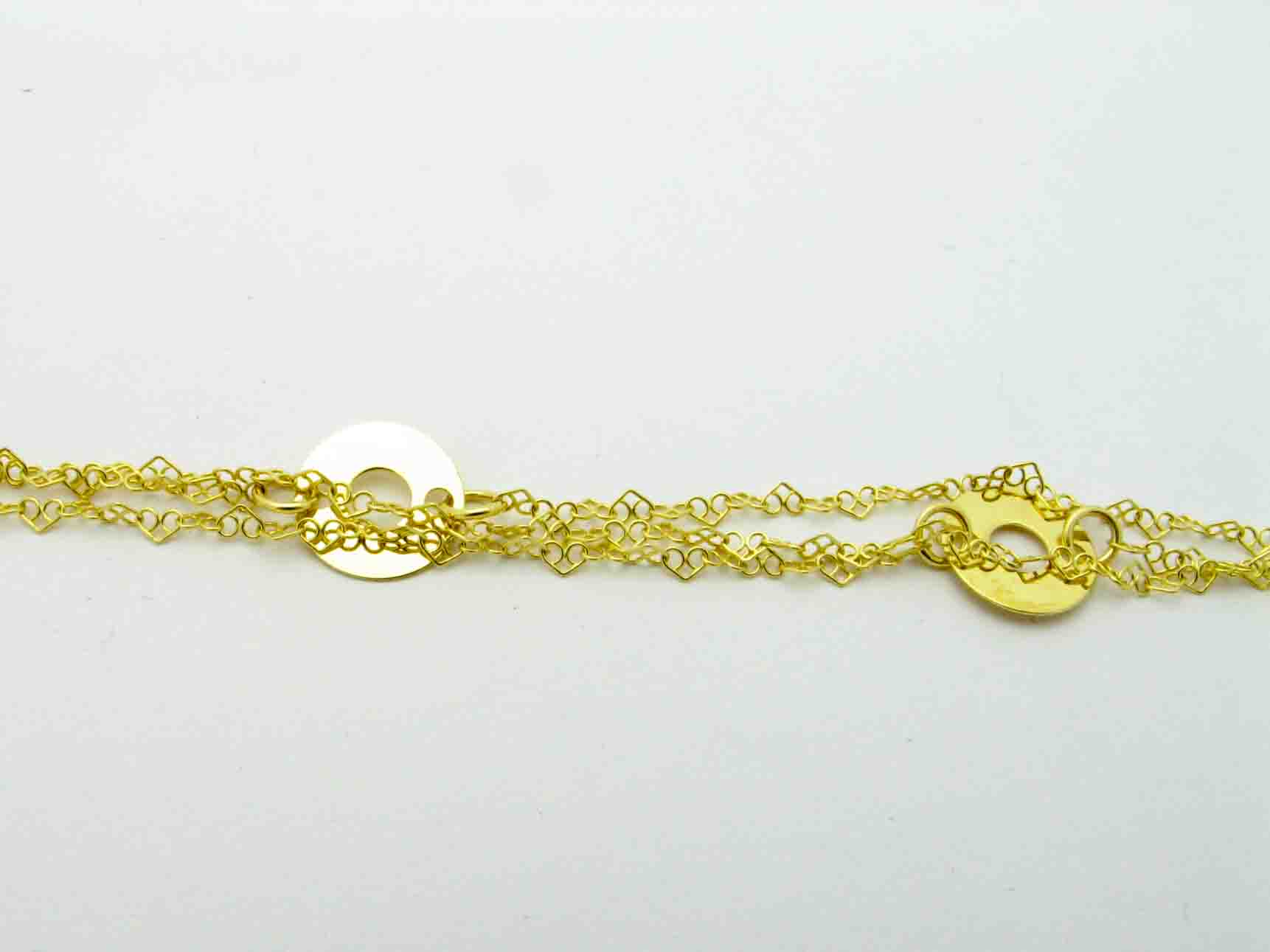 11838 14K YELLOW GOLD GEO ANKLET
