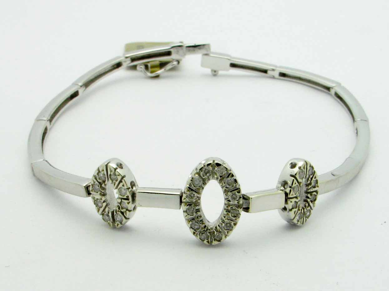 11862 14K WHITE GOLD DIAMOND  BRACELET