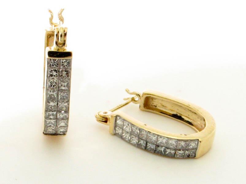 11922 14K YELLOW GOLD DIAMOND EARRINGS