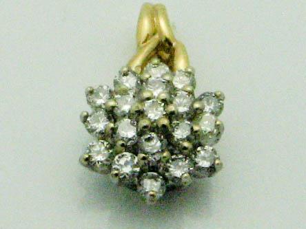 11969 14K YELLOW GOLD DIAMOND STARBURST PENDENT