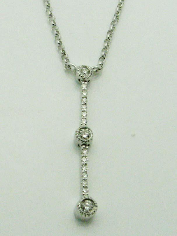 12016 14K WHITE GOLD DIAMOND NECKLACE