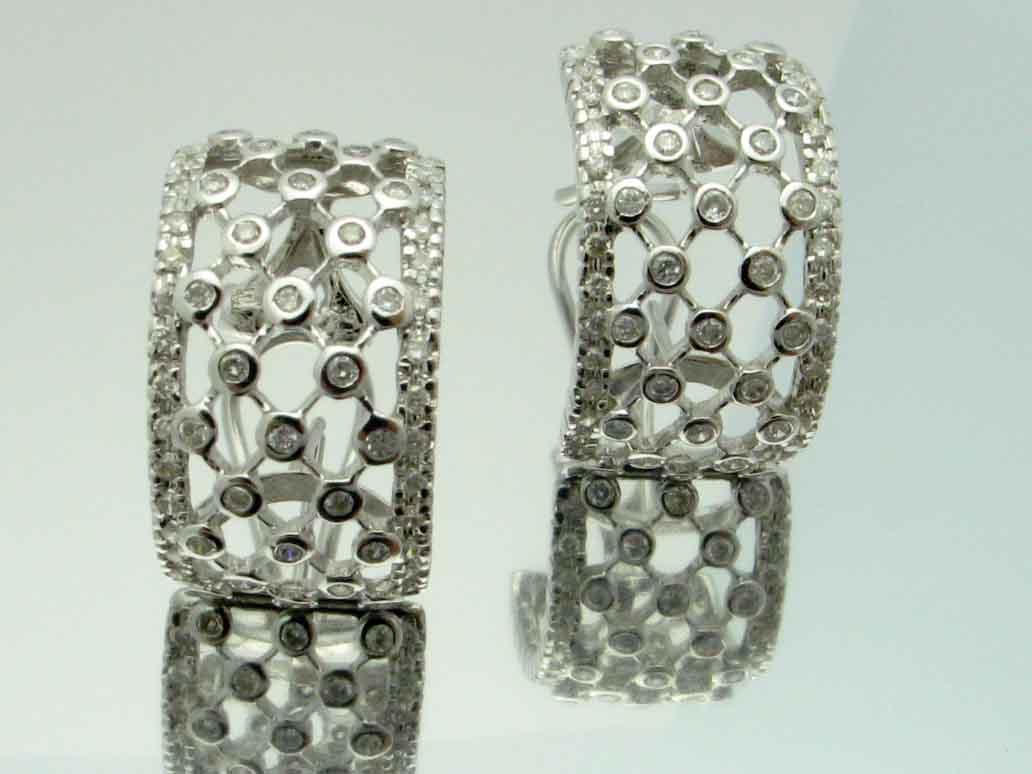 12026 14K WHITE GOLD DIAMOND EARRINGS