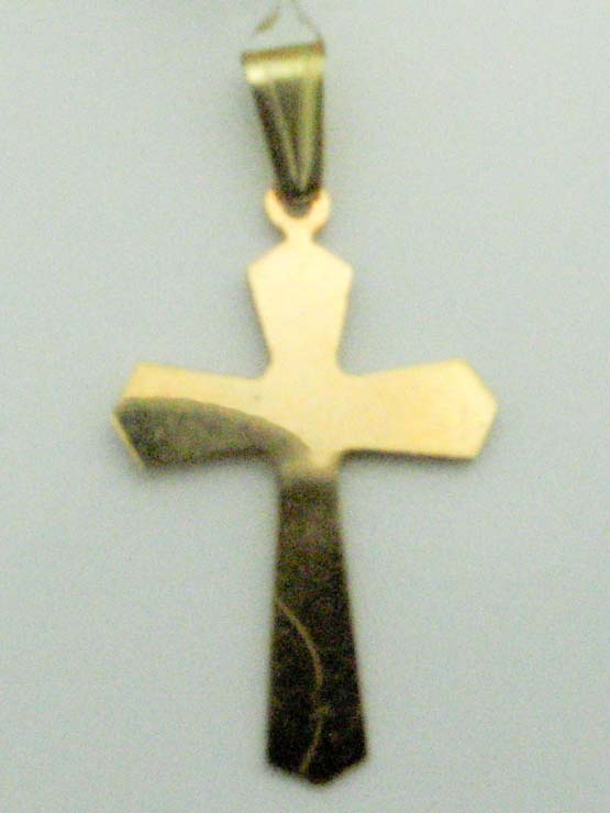 13070 14K YELLOW GOLD HIGH POLISHED CROSS PENDENT
