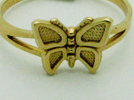 13727 14K YELLOW GOLD BUTTERFLY RING