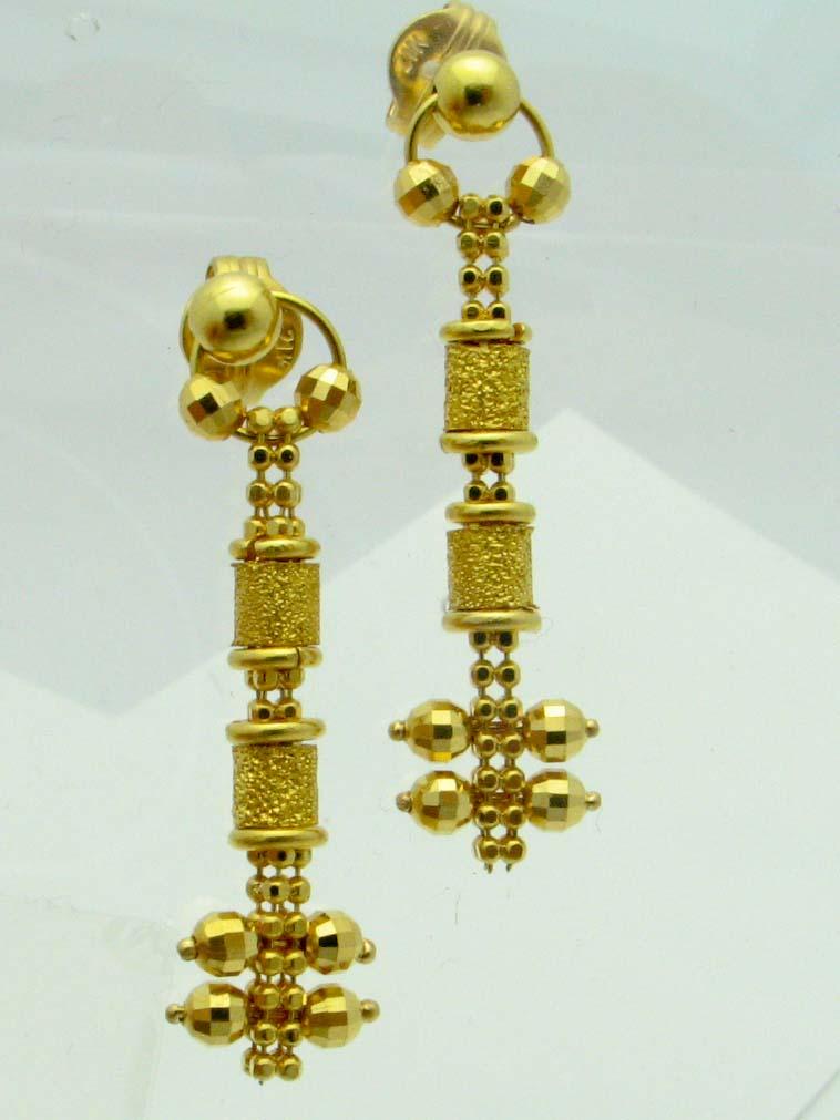 13880 21K YELLOW GOLD EARRINGS
