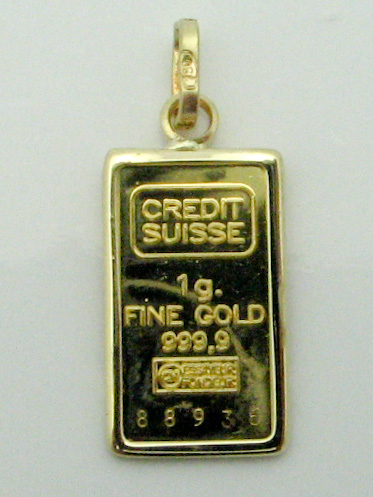 13992 24K YELLOW GOLD COIN PENDENT
