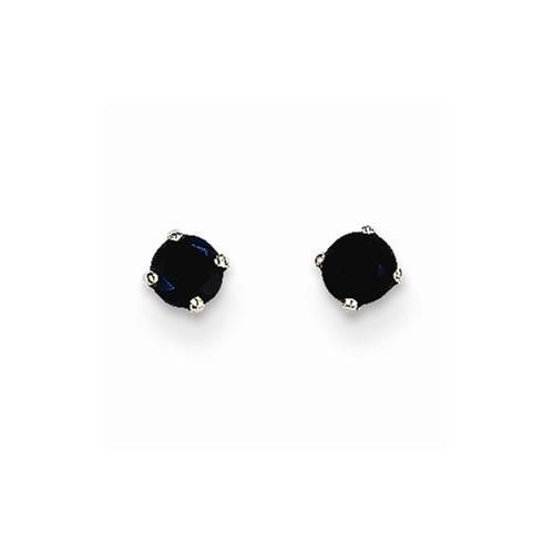 15130 14K WHITE GOLD BLACK DIAMONDS STUD EARRINGS