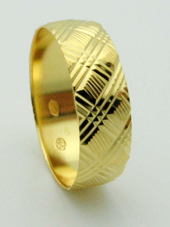 15422 21K YELLOW GOLD WEDDING RING