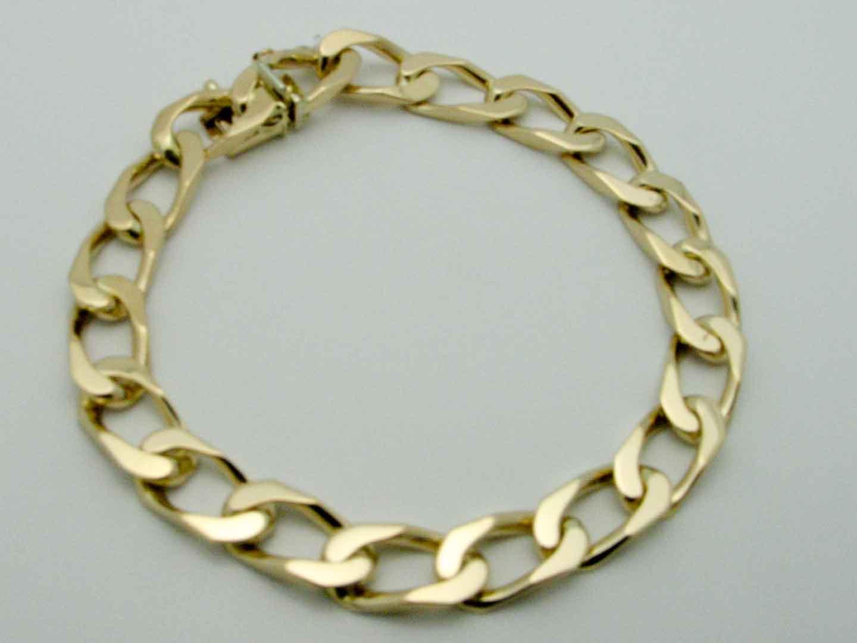 15423 14K YELLOW GOLD LINK BRACELET