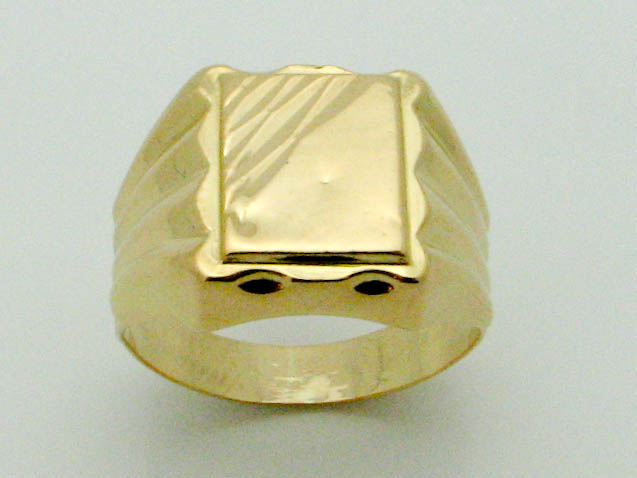 15620 21K YELLOW GOLD DIAMOND CUT RING