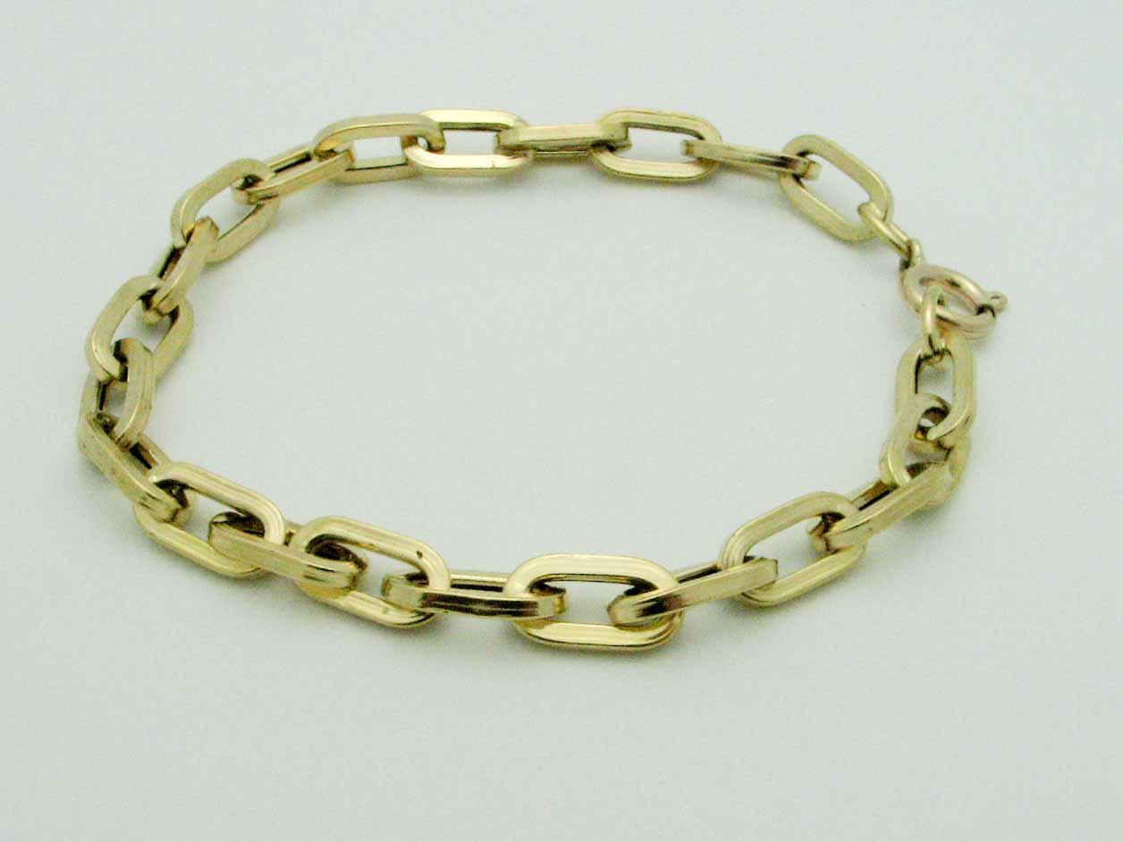 15850 18K YELLOW GOLD LINK BRACELET