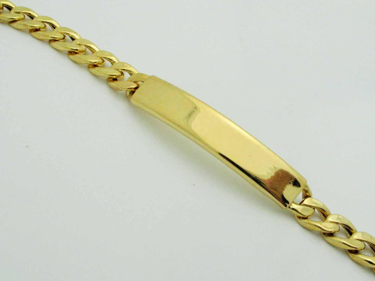16149 21K YELLOW GOLD ID BRACELET