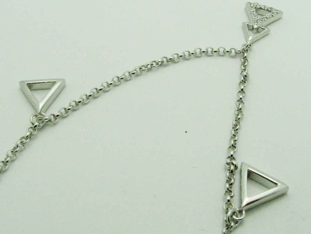 16492 STERLING SILVER TRIANGLES ANKLET